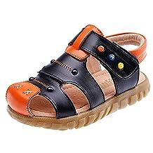 DADAWEN Boy's Girl's Adventure Seeker Closed Toe T Dress Sandal (Toddler/Little Kid/Big Kid)