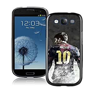 Soccer Player Lionel Messi(2) Black Samsung Galaxy S3 Cellphone Case Lovely and Grace Look