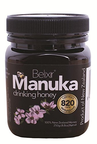 Price comparison product image Very High Strength Manuka Honey (MG 820) Raw,  Genuine,  New Zealand Active Manuka (current batch tested to the equivalent active ingredient to MGO 1080 and UMF 23.5)