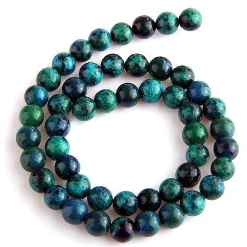 SODIAL(R) Chrysocolla Round Gem Gemstone Loose Beads 8mm Strand HOT (Beads Stone Chrysocolla)