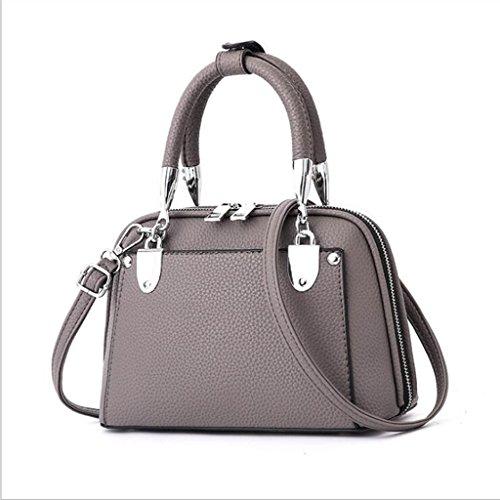 Centimetri 16 Scuro Bag 25 Selvatico Femminile E Tote Messenger Spalla 12 dimensioni Scuro grigio Semplice Elegante gqwf6P