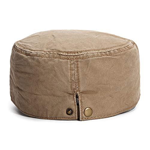 Aroglda Phase Mens Uni Cotton Solid Pattern Litary Baseball Hat Classic Casual Visor Flat Top Cap Adjustable