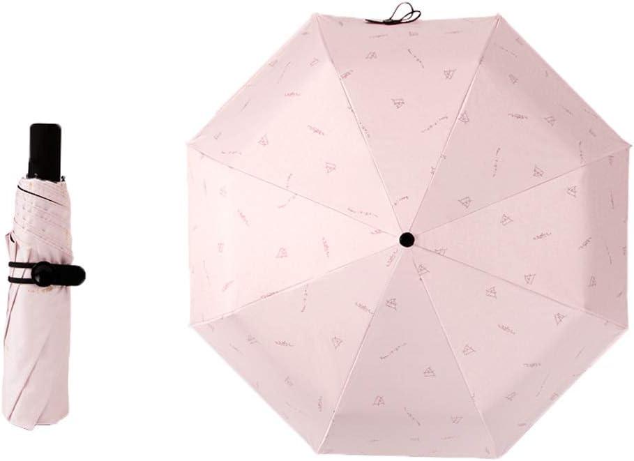 Outdoor Sunny Rain Dual-use Travel Parasols with Manually Switch Umbrella Portable Pocket Sun Color : White 3 Color