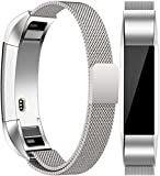 Vancle For Fitbit Alta HR Band/Alta Band, Fitbit Alta Accessories Replacement bands Metal Wristband Band Strap with Magnetic Closure Clasp for Fitbit Alta HR/Fitbit Alta(Silver, Small)