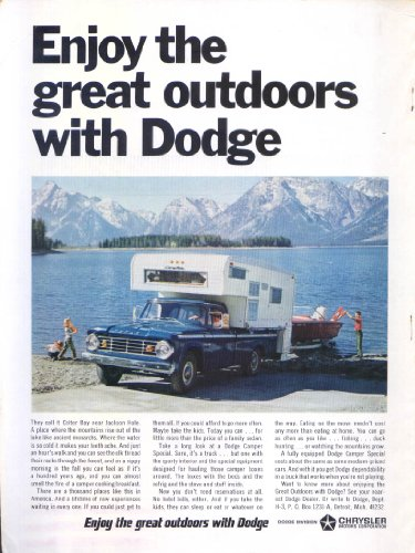 Dodge Enjoy great outdoors Colter Bay ad 1967