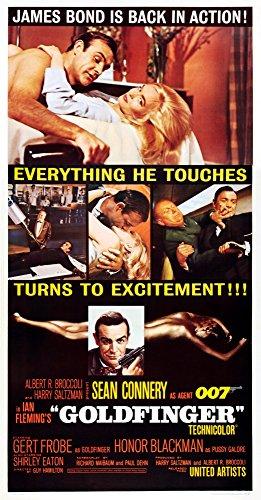 Posterazzi EVCMCDGOLDEC040 Goldfinger Movie Poster Masterprint 11 x - Goldfinger Movie Poster