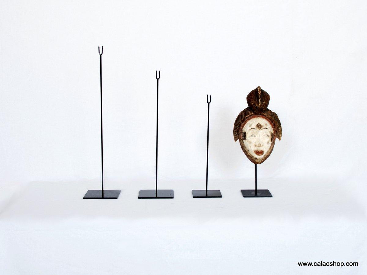4 altezze a scelta Piedistallo Integralmente di Metallo per maschera in legno