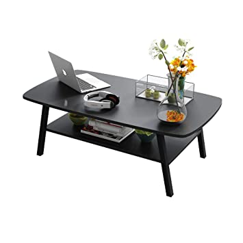 XQY Mesa Negra, Mini Escritorio, Mesa de Café Oval de Té, Mesa de ...