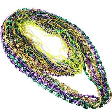 Yellow Mardis Gras Beads - 4