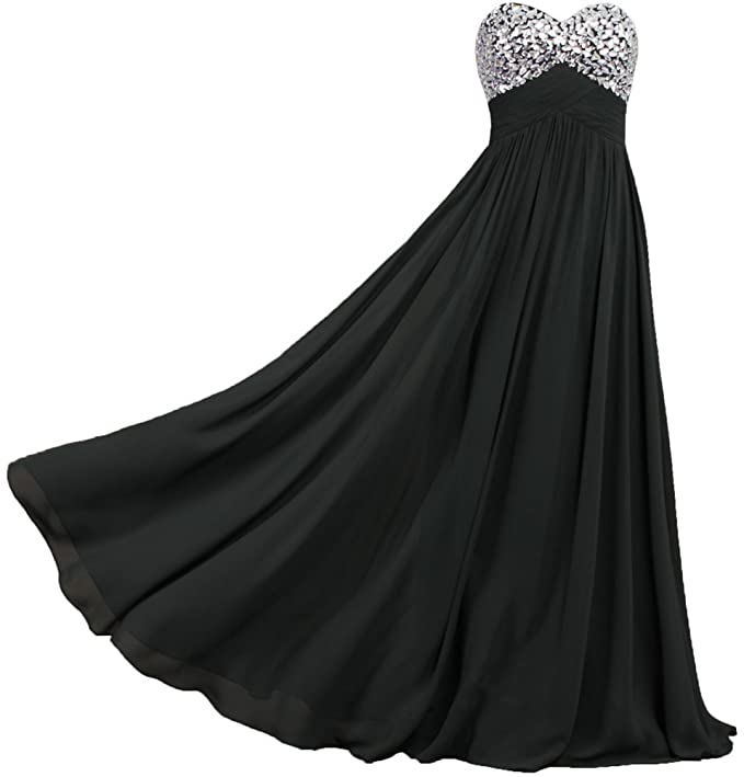 Amazon.com: ANTS Formal Crystal Chiffon Prom Dresses Long Evening ...