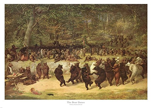 Great Art Now The Bear Dance, c.1870 by William Holbrook Beard Art Print, 22 x 16 inches by Great Art Now