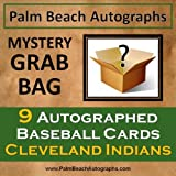 MYSTERY GRAB BAG - 9 Autographed Baseball Cards - Cleveland Indians