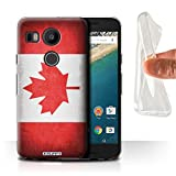 STUFF4 Gel TPU Phone Case / Cover for LG Nexus 5X / Canada/Canadian Design / Flags Collection