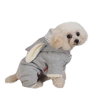 e2e782d12d7 Amazon.com: Elogoog Puggy Clothes, Cute Rabbit Hoodie Clothing Warm ...