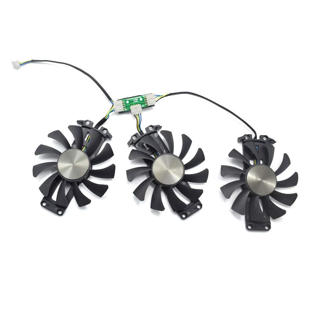 inRobert 75mm GA81S2U Cooler Fan Replacement for ZOTAC GTX 970 AMP! Omega Core (ZT-90106-10P) Graphics Card Cooling Fans (Fan-ABC)