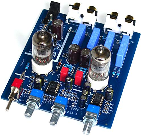 Jolooyo HiFi Tube preamp 6J1 with high and Low Sound Adjustment Audio Amplifier preamplifier