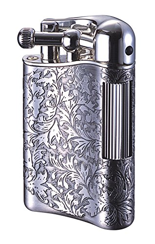 Sarome Flint Lighter for Pipe PSD12-12 / Antique silver arabesque - Antique Pipe