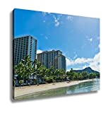 Ashley Canvas, Beautiful View Of Honolulu Hawaii United States, Home Decoration Office, Ready to Hang, 20x25, AG6409771