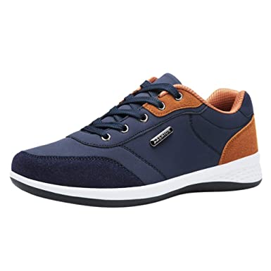 5fe7f810ee05d Amazon.com: Sharemen Men's Fashion Casual Lace Up Leather Sport ...