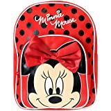 Disney Minnie Mouse Girls Minnie Mouse Backpack With Bow