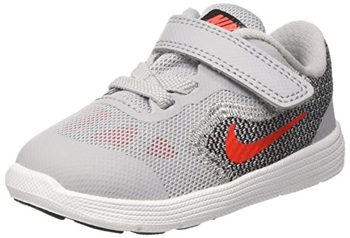 NIKE TODDLER NIKE REVOLUTION 3 (TDV) GREY ORANGE BLACK WHITE SIZE 9 (Nikes For Toddlers)