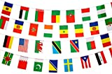 200 Country Flags, 50 Meters In Length, International Banner, Bellview Goods, Olympics World Cup Sporting Event Competitions Bar Restaurant Party Grand Opening Celebration Festival Event