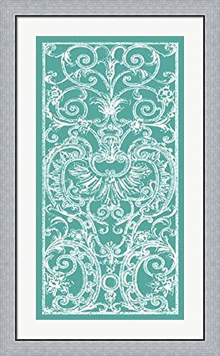 Graphic Ironwork II by Vision studio Framed Art Print Wall Picture, Flat Silver Frame, 26 x 42 (42 Iron Works Wall)