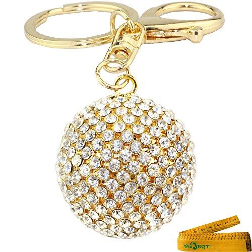 Shaped Ball Keychain - Lucky 3D Crystal Ball Shaped Alloy Metal Keychain Key Ring Purse Bag Car Cell Phone Decor Pendant Ornament