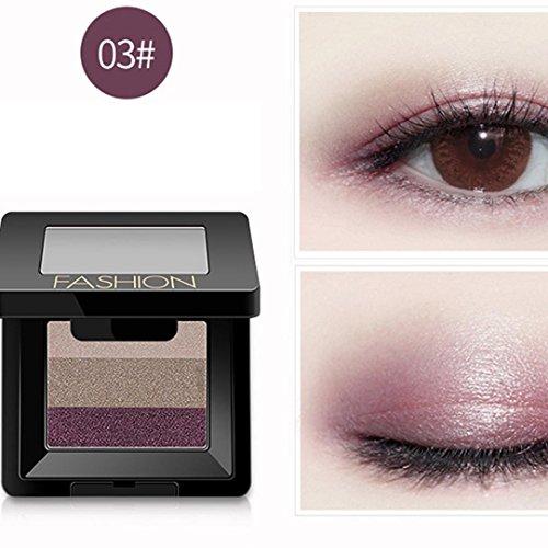 Poluck Women's 3-in-1 Small Eyeshadow Palette Six Styles Easy To Carry Orange Pink Brown Purple Natural Nudes Warm Smokey Shades Waterproof Long Lasting Eye Shadow (Bronze Eye Brush)