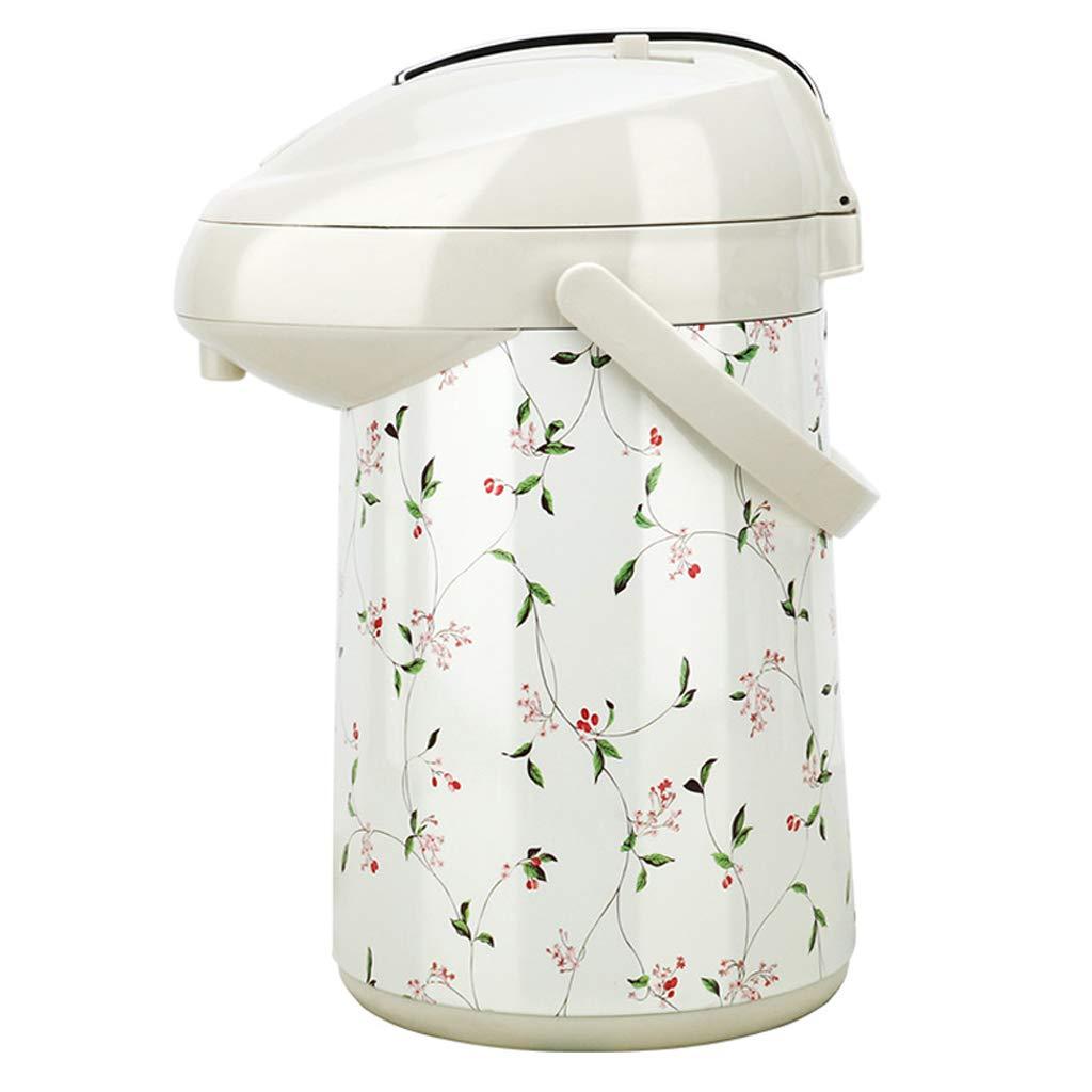 総本店のために適した加圧タイプガラスはさみ金の絶縁材の鍋2000MLの大きい容量 (色 : White small floral, サイズ さいず : 2200ML) 2200ML White small floral B07MC7RC4N