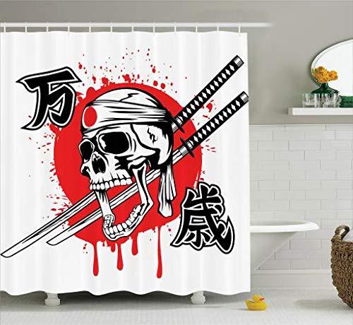 bandera ducha calavera japon