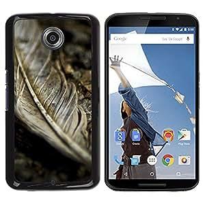 Be Good Phone Accessory // Dura Cáscara cubierta Protectora Caso Carcasa Funda de Protección para Motorola NEXUS 6 / X / Moto X Pro // Rustic Vignette Fall Autumn Grey