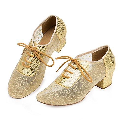 heel Miyoopark mujer 4cm Gold salón awnCqxp0