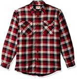 Wrangler Authentics Men's Long Sleeve Quilted Lined Flannel Shirt Jacket, Biking Red Tri Color Buffalo, 2X-Large