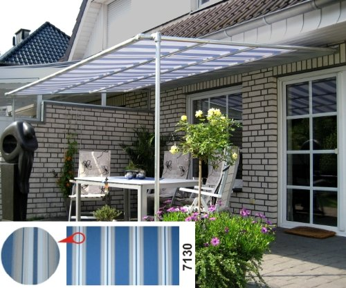 Vlexy Standard Terrassenüberdachung in blau/beige NEU