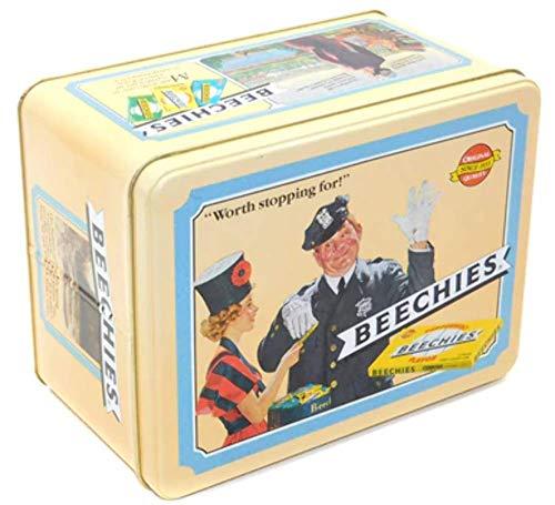 Vintage 1990 Beechies Chewing Gum Advertising Tin Box Nostalgic Graphics