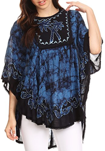 Sakkas Lynda Embroidered Peasant Poncho product image