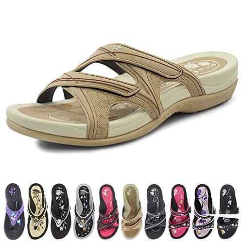 Gold Pigeon Shoes Signature Sandal: Comfort Walking Ergonomic Flip Flops, Slides & Sandals for Women