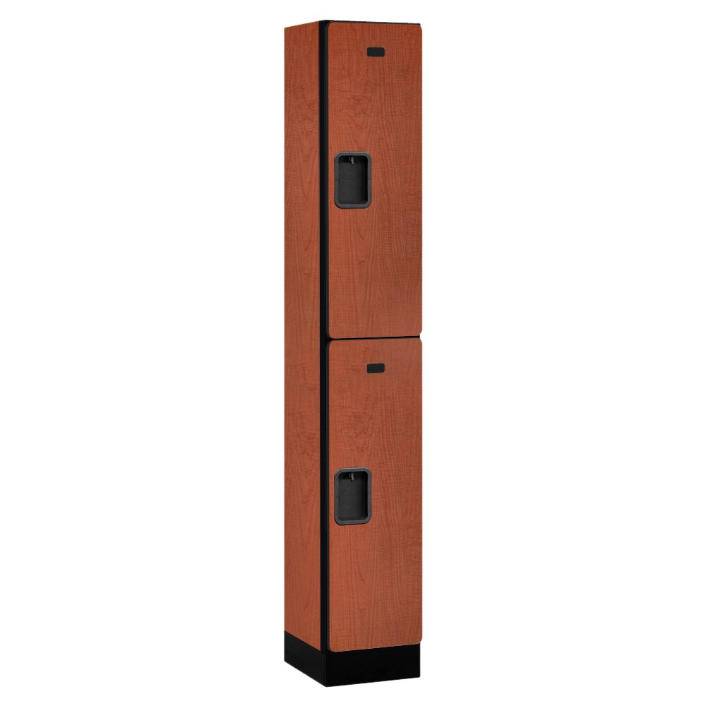 Salsbury Industries Double Tier Designer Wood Locker, Cherry, 6' 1'' x 15''