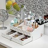 Osier Fashion Double Layer Make up Storage Box Jewelry Accessories Beauty Organizer