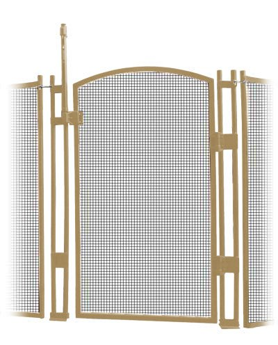 VisiGuard Self-Closing/Latching Pool Fence Child Safety Gate 4' Tall (Brown) by Sentry Safety Pool Fence (Image #1)