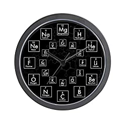 CafePress Periodic Table of Elements 24 Hour Unique Decorative 10 Wall Clock