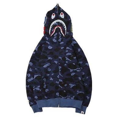 1251fd96 DuoLu Fashion Bape Camo Hoodie Casual Loose Cotton Jacket for Men/Women at Amazon  Men's Clothing store: