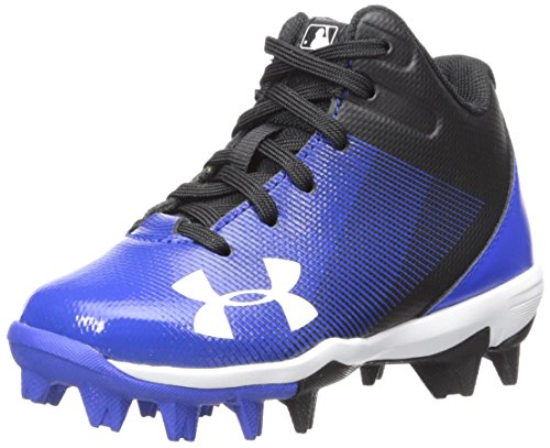 Under Armour Boys' Leadoff Mid Jr. RM Baseball Shoe, Black (041)/Team Royal, 8K