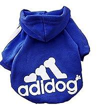 High Quality Autumn Winter Warm Pet Dog Clothes Coat Soft Cotton Adidog Clothing 7 Colors Small Size S M L Xl XXL Dog Jacket (Navy Blue, M)