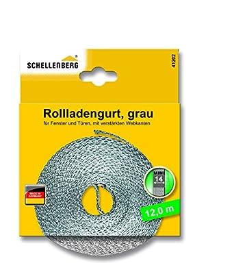 Schellenberg 44501Roller Shutter Strap for Window (Width: 14mm, Mini System: 4.5m), Grey, 41102