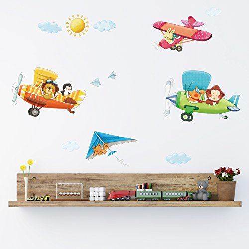 Decowall DA 1506B Biplanes Nursery Stickers product image