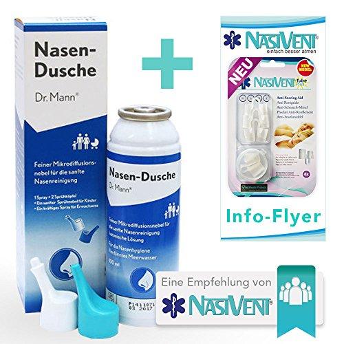 Nasendusche von Dr. Mann - Die schnelle Nasendusche für Zwischendurch - Die optimale Ergänzung für Ihr Nasivent
