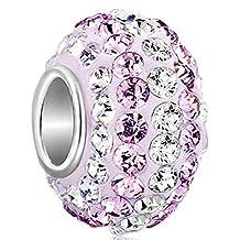 925 Sterling Silver Birthstone Charms Swarovski Elements Crystal Sale Bead Fit Chamilia Charm Bracelet