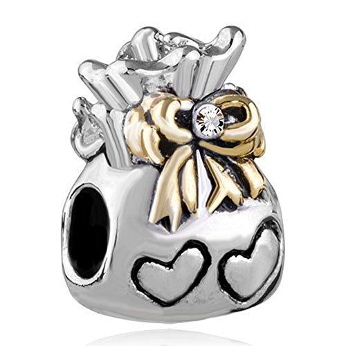 Handbag Heart Silver Plated Bracelet